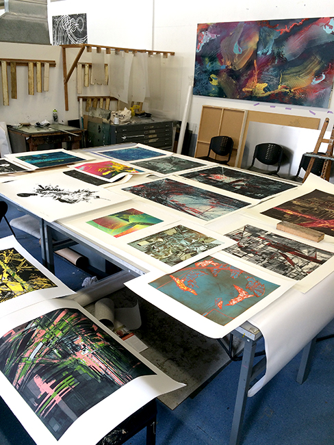arranging prints for a presentation