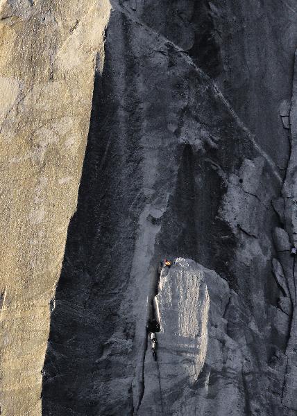 Climber on El Capitan
