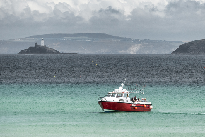 Godrevy Light from St Ives