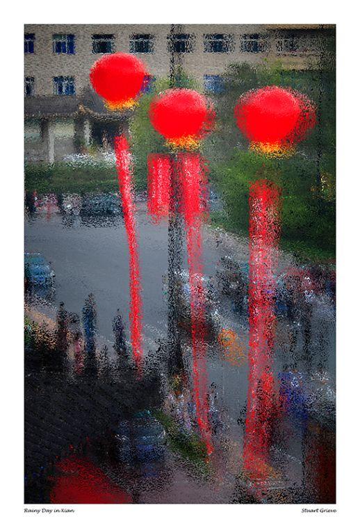 Rainy Day in Xian