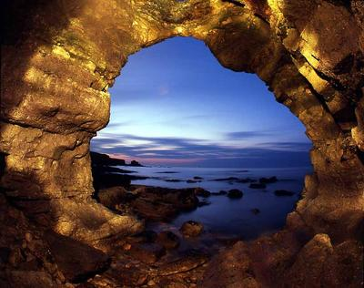Cave near Byers Hole South South Shields UK