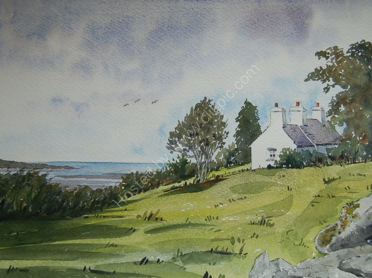 Cottage overlooking Red Wharf Bay