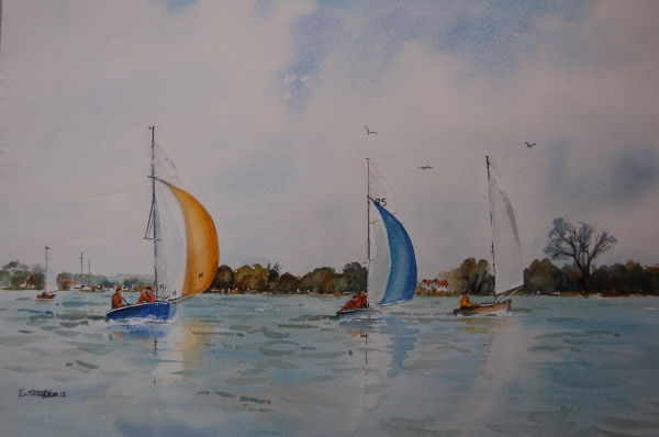 Boats in the Harbour (Sold)