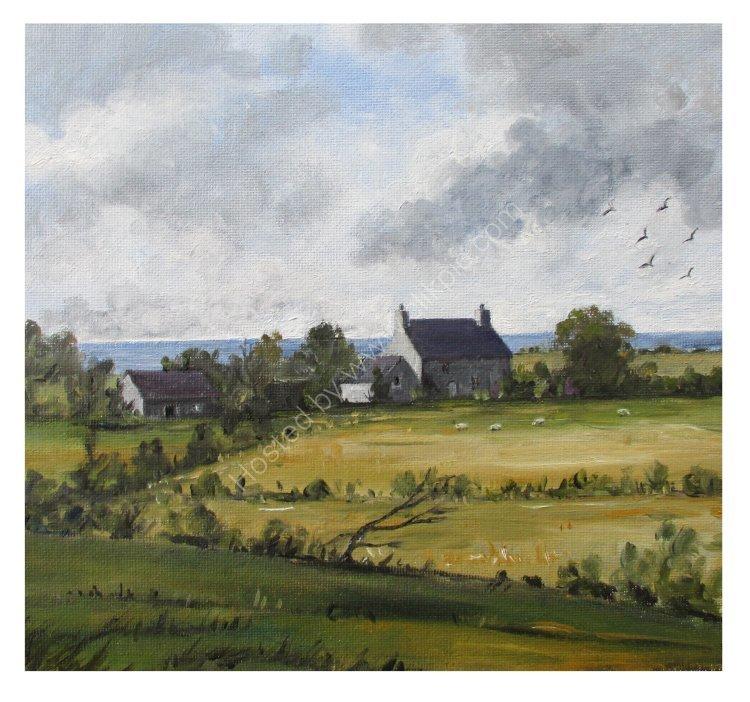 Hendrefor -A farm on the Llyn Peninsula (oil) (Sold)
