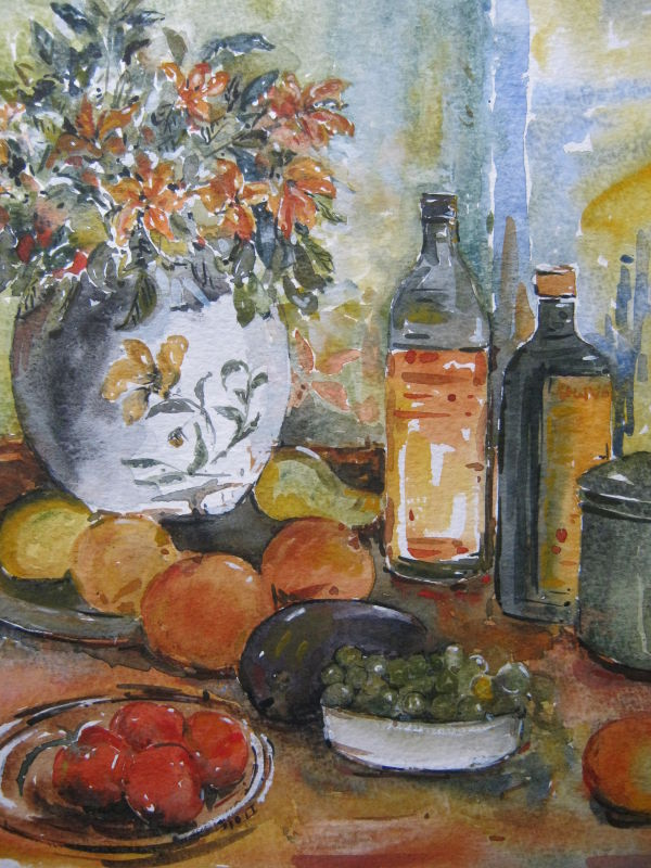 still life with flowers  (Sold)
