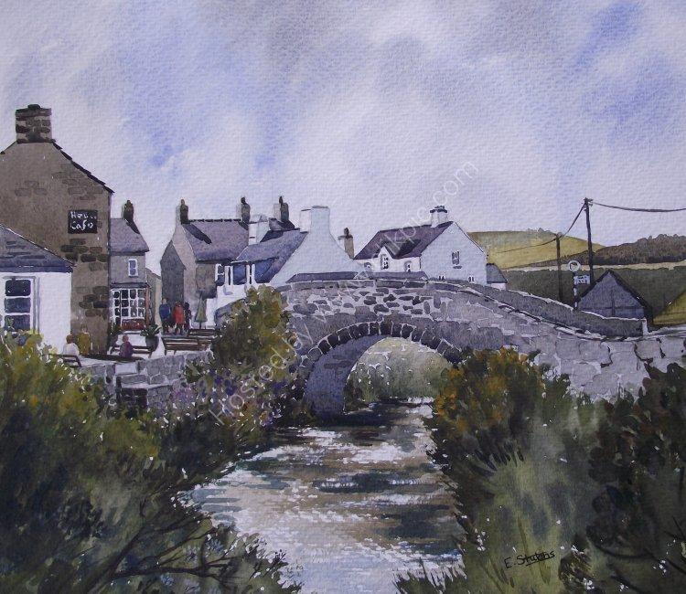 Pont Aberdaron - watercolour (Sold)