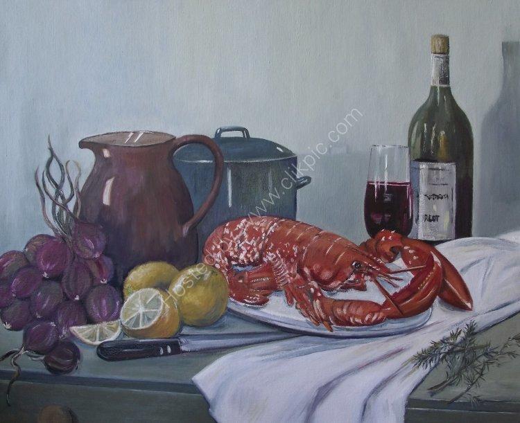 Sbargo's Lobster. (Oil) NFS