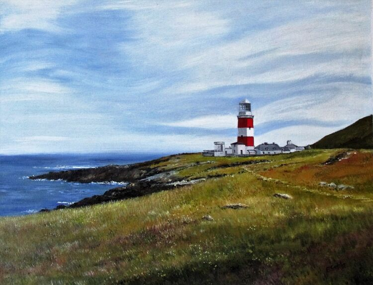 The Lighthouse, Bardsey. Oil (Sold)