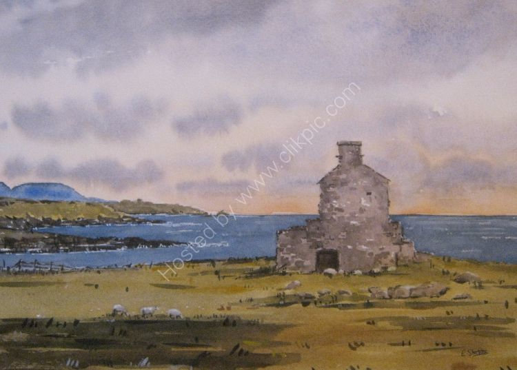 View over Porth Ysgaden at Sunset (Sold)