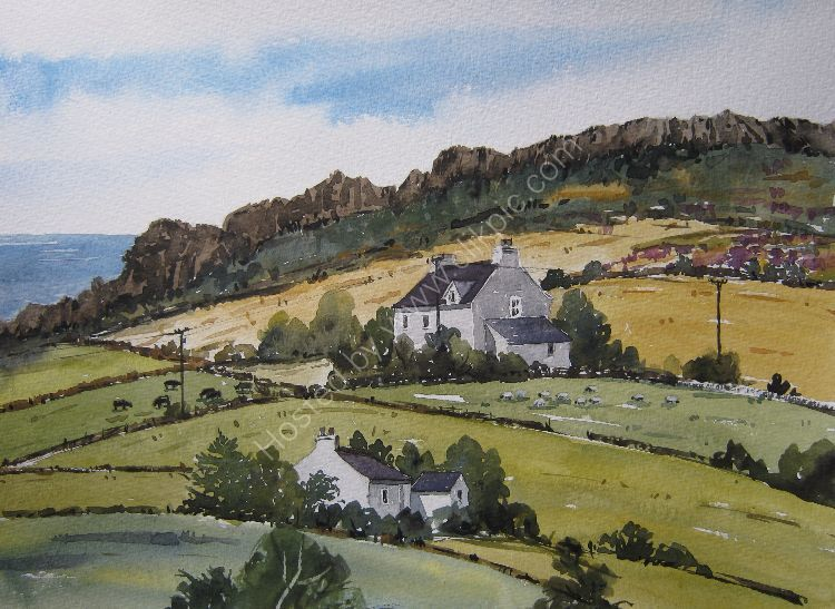View towards Mynydd Graig