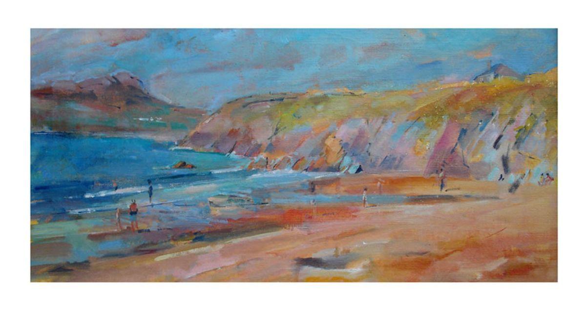 Porthsele beach 40cmx22cm