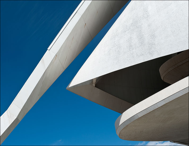Concrete shell structure of the Opera House