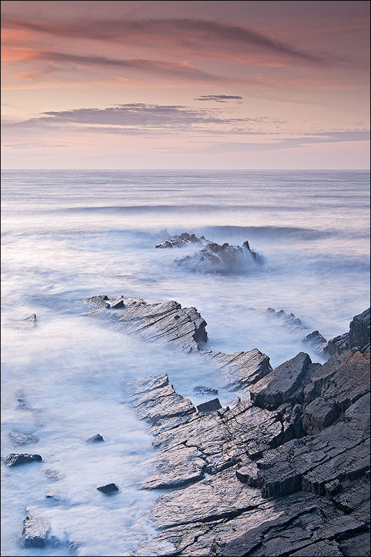Hartland Rocks at sunset
