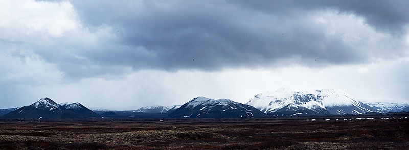 Snow capped mountains