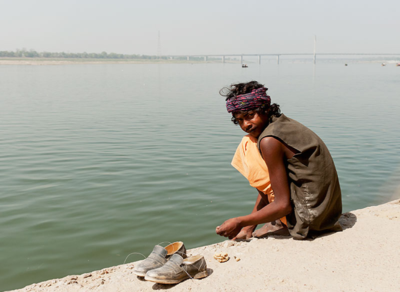 Local boy at the Ganges