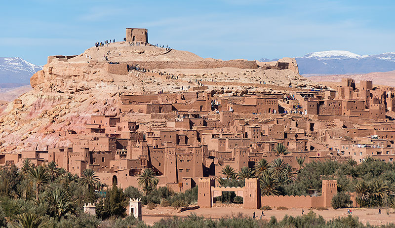 The village of Ait-Benhaddou