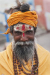 Religious man on the banks of the Ganges river.