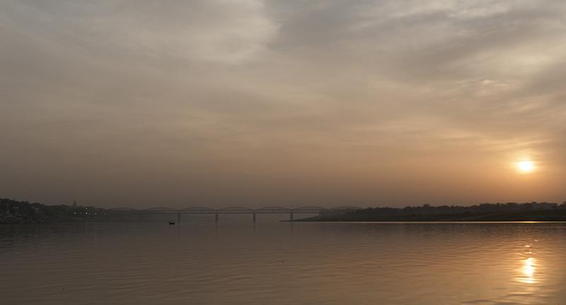Sunrise on the Ganges river.