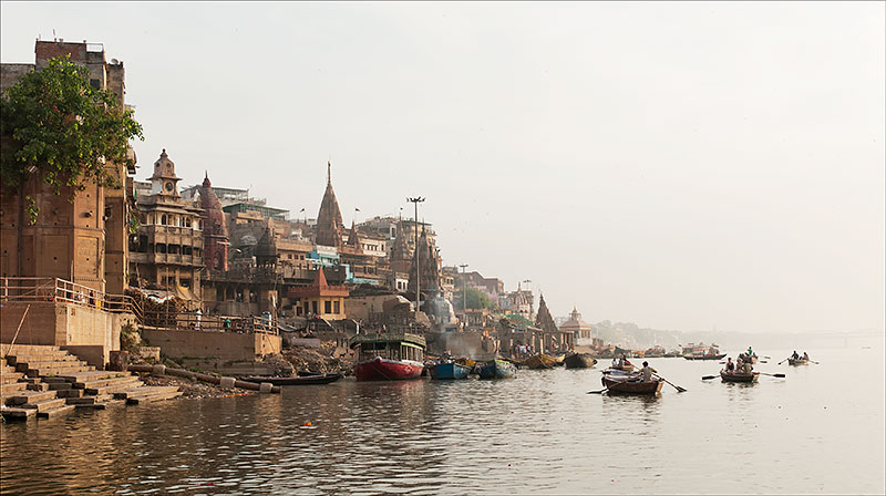 The banks of the Ganges