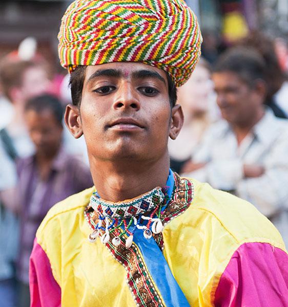 Dancer at the Mewar festival