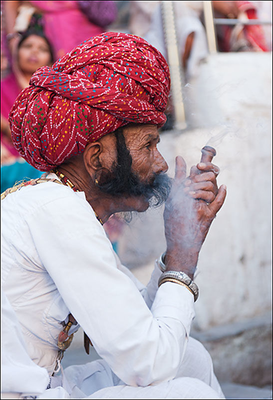 Relaxing at the Mewar festival, Udaipur
