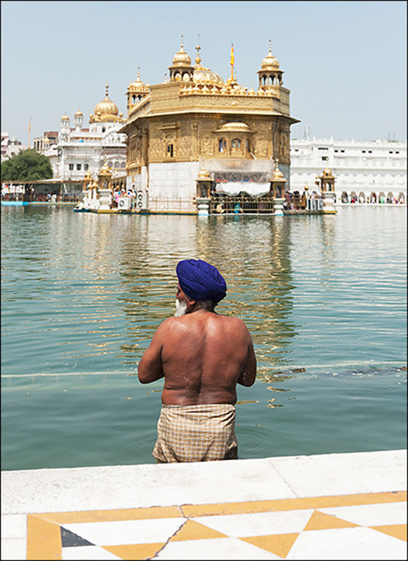 In the holy water in Amritsar