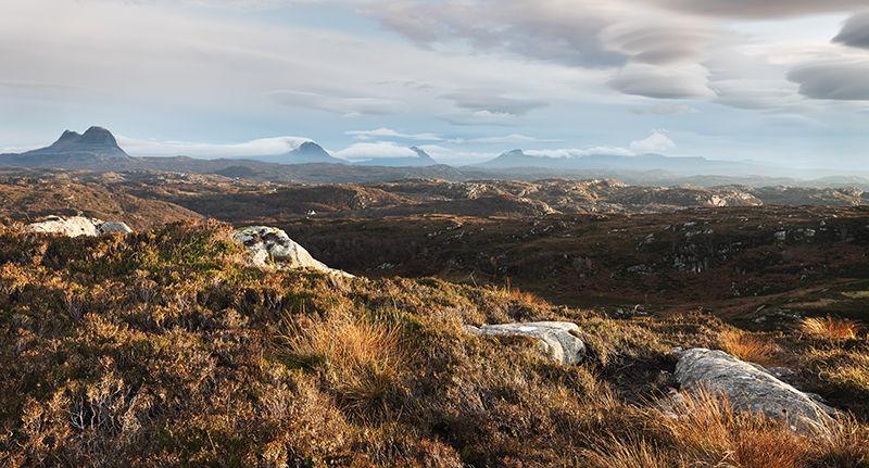 View towards Assynt highlands