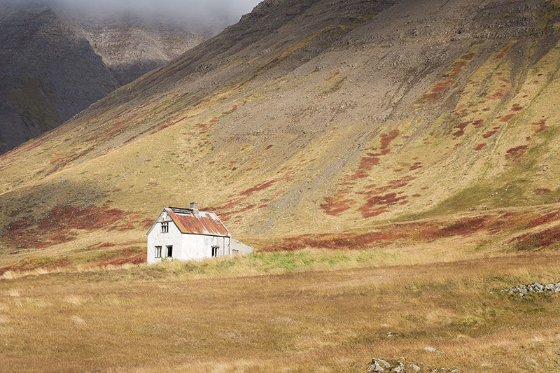 Derelict house in the mountains