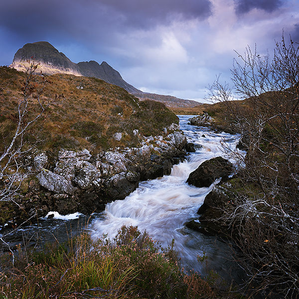 Across the falls to Suilven