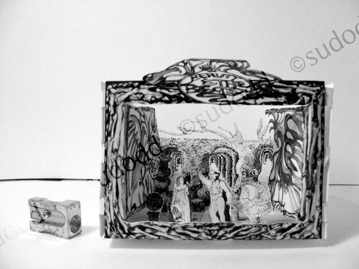 137 Beauty-&-Beast-cut-out-paper-stage-set 3D-2019