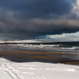 Banff beach in the snow