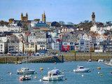 St Peter Port Guernsey taken from Condor