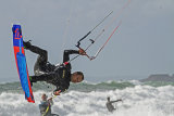 Rhys Edwards Kite Surfer in action