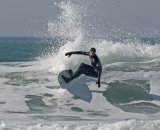 surfing at St Ouen 25 February 2019