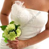 Dress detail with Bride Bouquet