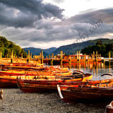 Derwentwater Boats at Sunset