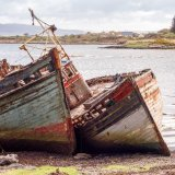 The Old Boats at Salen Pier, Mull, Scotland
