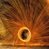 Wire Wool Spinning, Rydal Cave, Cumbria