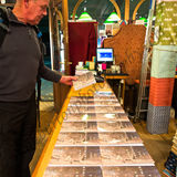 Customer looking at the new book  The Slaidburn Angel