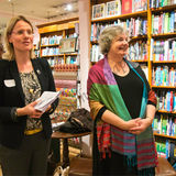 The interview of Sheelagh Whittaker at the book launch of the Slaidburn Angel