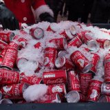 Cans of Coca Cola from the Christmas Truck