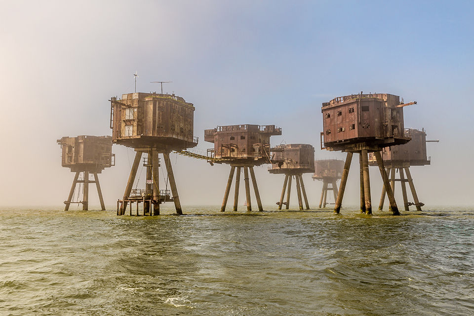 Through the Mist - Red Sands Fort