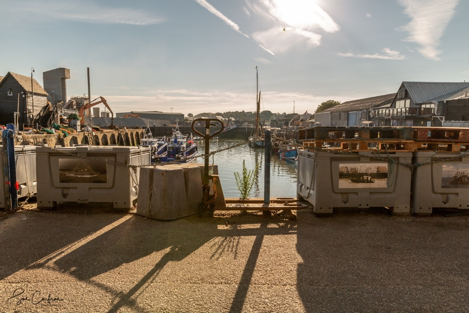Harbour shadows, early morning Harbour, Whitstable