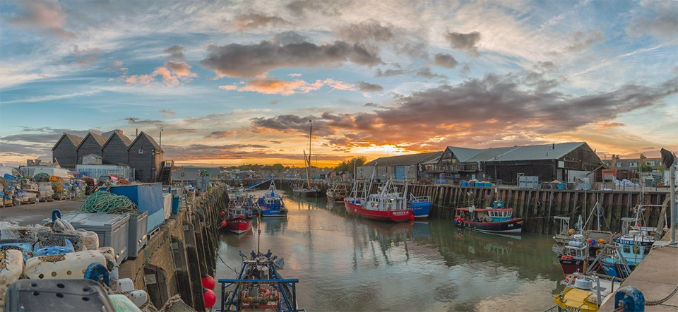 Sunrise over Whitstable Harbour