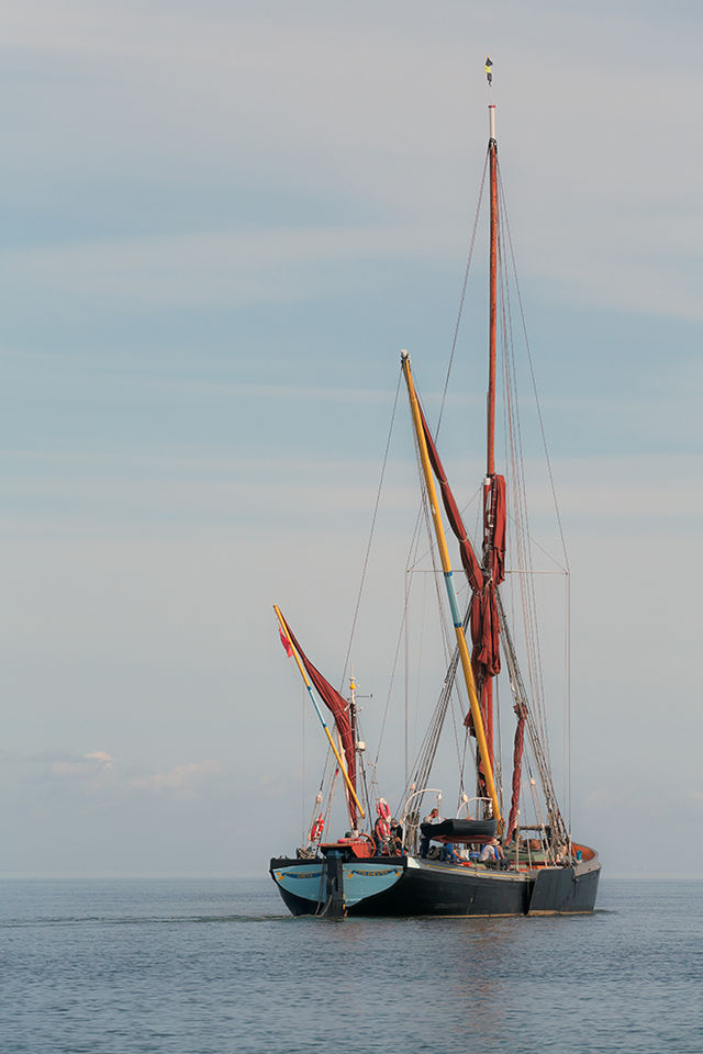 The Greta heading out to sea.