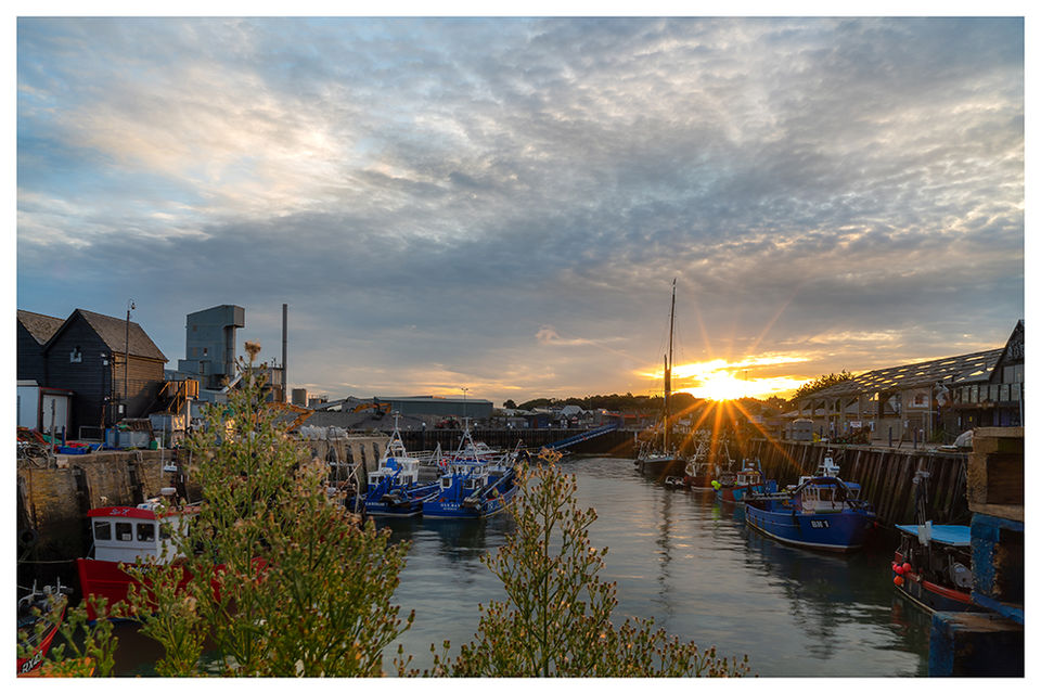 Early September morning, Whitstable Harbour