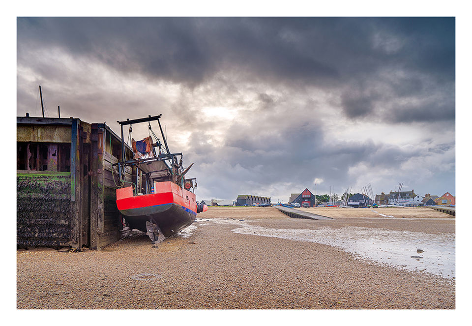 Rain clouds building over Whitstable