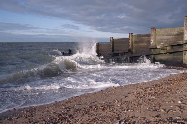 Breakwaters and beach, Whitstable