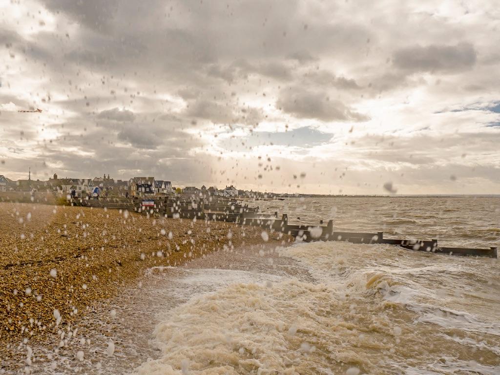 Wind, waves & kite, Whitstable