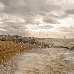 Wind, waves & kite, Whitstable
